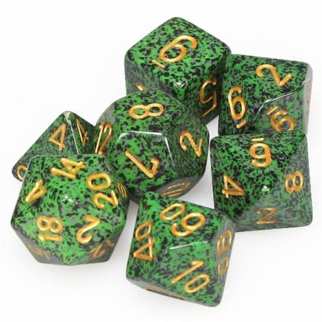 Chessex Speckled Golden Recon 7-Die Set (CHX25335)