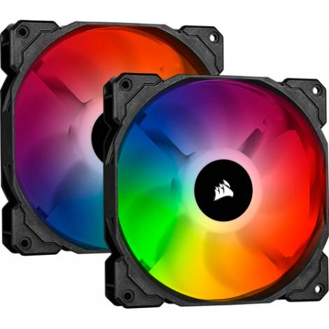 Corsair iCUE SP140 RGB PRO Performance 140mm Dual Fan Kit with Lighting Node CORE (CO-9050096-WW)