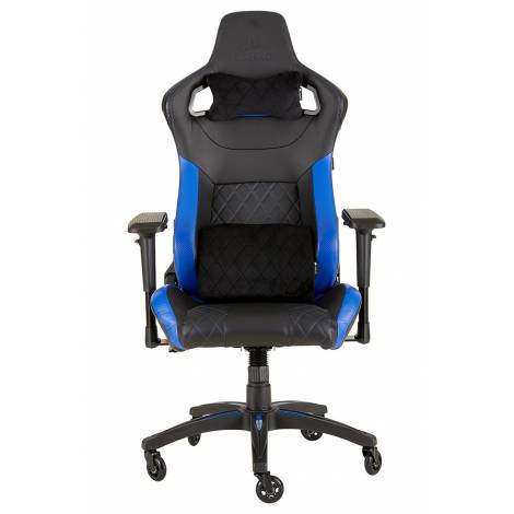 Corsair T1 Race 2018 Gaming High Back Desk and Office Chair, Faux Leather, Black/Blue, 134 x 58 x 58 cm , CF-9010014-WW