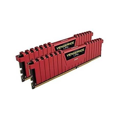 Corsair Vengeance LPX 16 GB (2 x 8 GB) DDR4 3200 MHz C16 XMP 2.0 High Performance Desktop Memory Kit, Red (CMK16GX4M2B3200C16R )