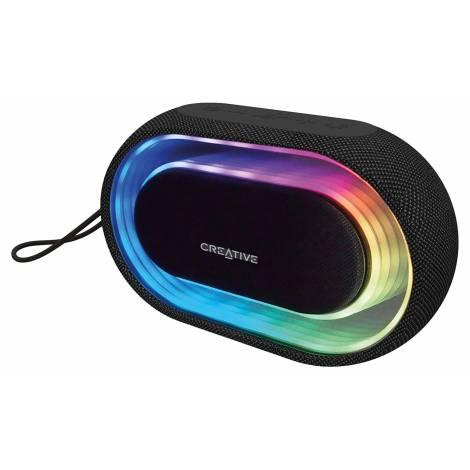 Creative Speaker Halo Portable Bluetooth Speaker With Programmable Lightshow (51MF8275AA000)