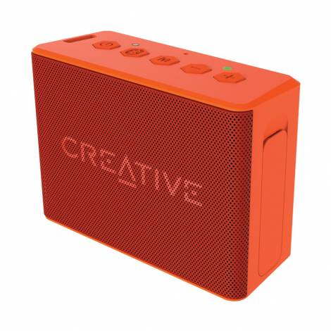 Creative Speaker MUVO 2c Palm-sized Water-resistant Bluetooth® Speaker with Built-in MP3 Player Orange (51MF8250AA010)