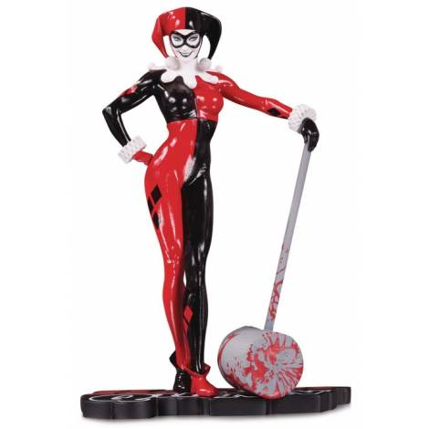 DC COMICS: Harley Quinn Red White And Black Statue By Adam Hughes (SEP190619)