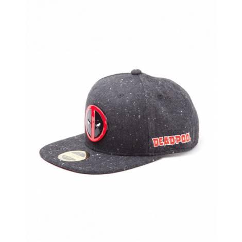 Deadpool - Metal Badge Logo Snapback Cap (SB097580DEA)