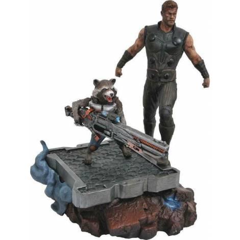 Diamond Marvel Premier Avengers 3 Thor & Rocket Statue (APR182163)