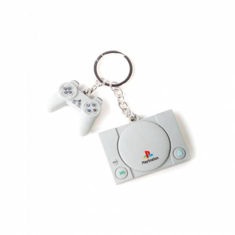 Difuzed PlayStation - Console & Controller 3D Rubber Keychain (KE880218SNY)
