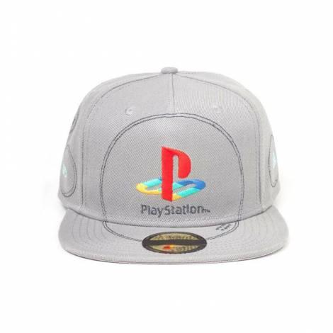 Difuzed PlayStation - Silver Logo Snapback (SB874743SNY)