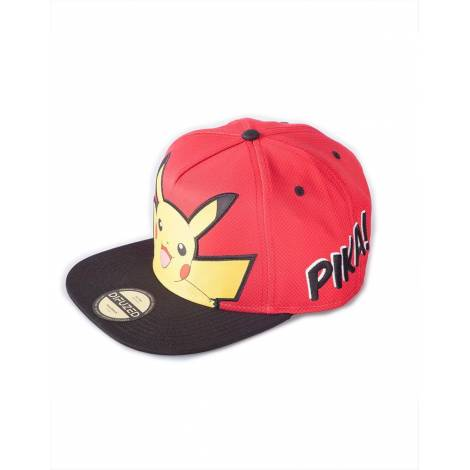 Difuzed Pokemon - Pikachu PopArt Snapback Cap red  (SB610031POK)