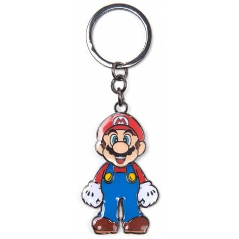 Bioworld Difuzed Super Mario - Mario With Movable Head Metal Keychain (KE645205NTN)