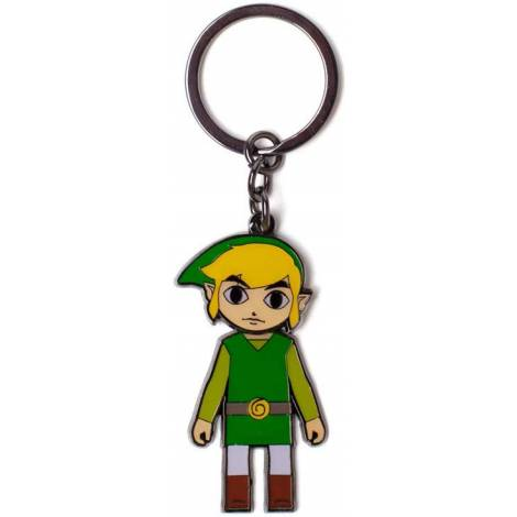 Bioworld  Difuzed Zelda - Link With Moveable Head Metal Keychain (KE705182ZEL)