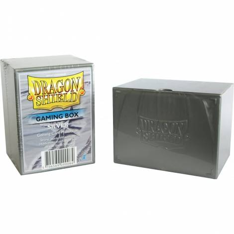 Dragon Shield Gaming Box - Silver (Holds 100 Sleeved Cards)