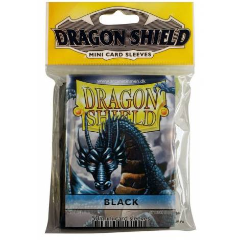 Dragon Shield Sleeves Mini Size - Black (50ct)
