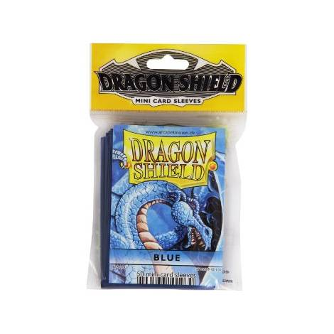 Dragon Shield Sleeves Mini Size - Blue  (50ct)