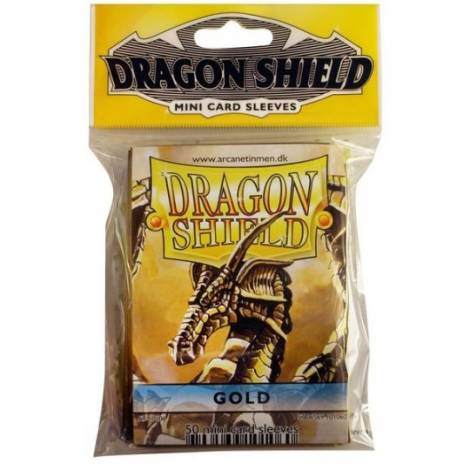 Dragon Shield Small Gold 50-CT