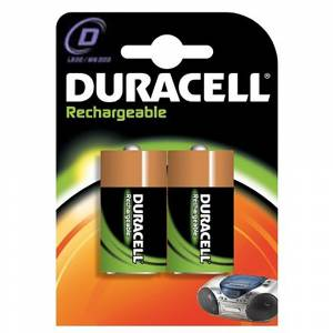 DURACELL RECHARGEABLE VALUE 2200mAh D - 2 PACK - DUD 22002