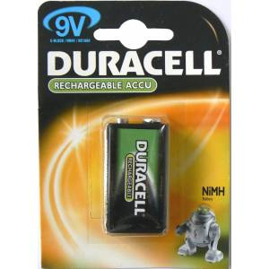 DURACELL RECHARGEABLE VALUE 9V -170mAH