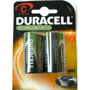 DURACELL RECHARGEABLE VALUE C - 2 PACK