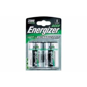 ENERGIZER RECHARGEABLE POWER PLUS 2500mAh D - 2 PACK