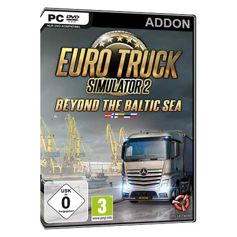 Euro Truck 2 Simulator - Beyond the Baltic Sea (Add On)  (PC) ) (Cd Key Only)