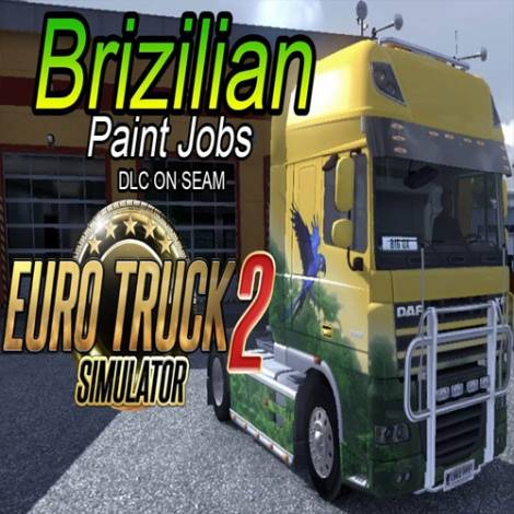 Euro Truck Simulator 2 Brazilian Paint Jobs (PC) (Cd Key Only)