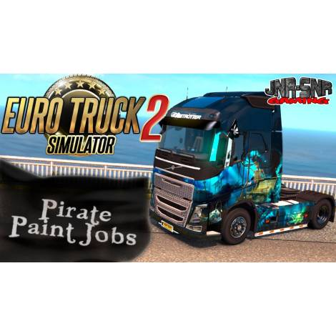 Euro Truck Simulator 2 Pirate Paint Jobs Pack (PC) (Cd Key Only)