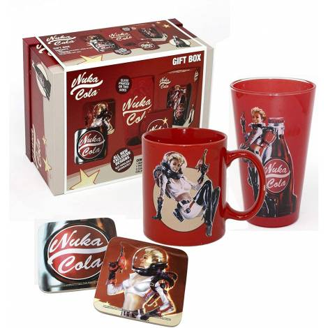 Fallout - Nuka Cola (Mug + Glass + 2x Coasters) Gift Box (GFB0052)