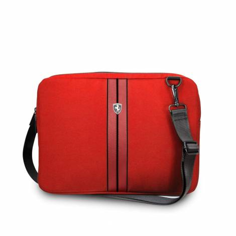 """FERRARI URBAN COLLECTION COMPUTER SLEEVE – ΘΗΚΗ ΚΑΤΑΛΛΗΛΗ ΓΙΑ LAPTOP/TABLET 13"""" (RED WITH BLACK PIPING)  FEURCS13RE"""