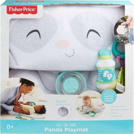 Fisher Price All-In-One - Deluxe Jersey Knit Panda Playmat (GJD28)