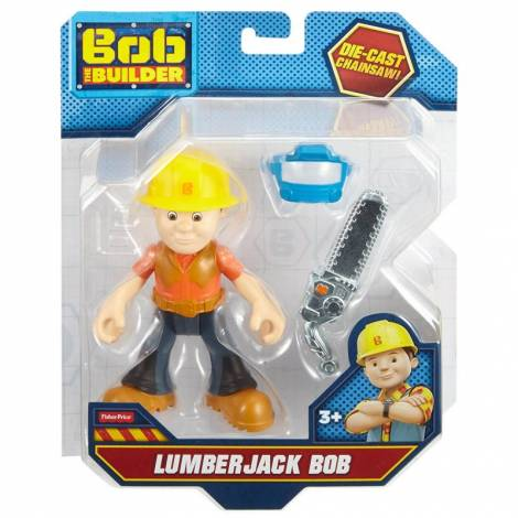 Fisher Price Bob the Builder - Lumberjack Bob Action Figure - Die-Cast Chainsaw! (DHB07)