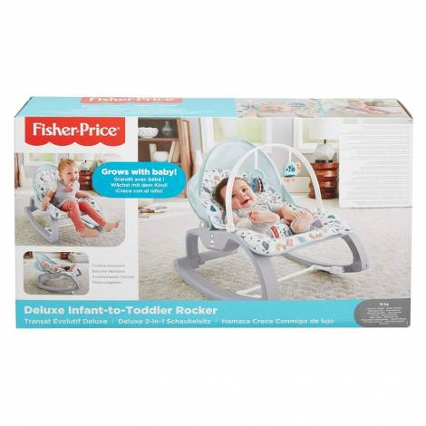 Fisher Price Deluxe Infant-to-Toddler Multi-Coloured Rocker (GMD21)