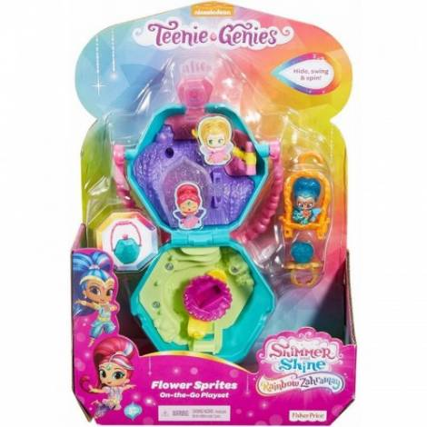 Fisher Price Shimmer Shine Teenie Genies - Flower Sprites On-The-Go Playset (FHN39)
