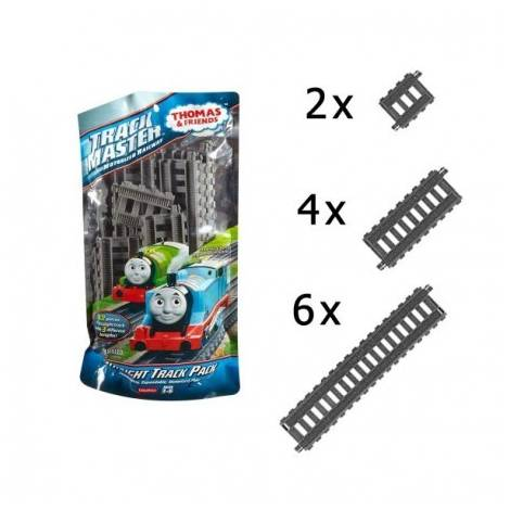 FISHER PRICE - THOMAS & FRIENDS -TRACKMASTER MOTORIZED RAILWAY - STRAIGHT TRACK PACK (DFM56)