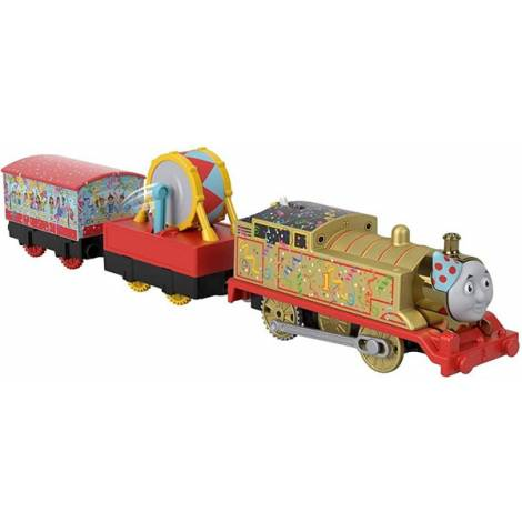 Fisher Price Thomas Friends Trackmaster: Trains With 2 Wagons - Golden Thomas (GHK79)