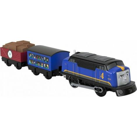 Fisher Price Thomas Friends Trackmaster: Trains With 2 Wagons - Gustavo (GHK78)