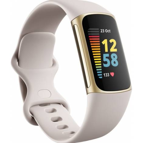Fitbit Charge 5 Activity Tracker - Lunar White (FB421GLWT)