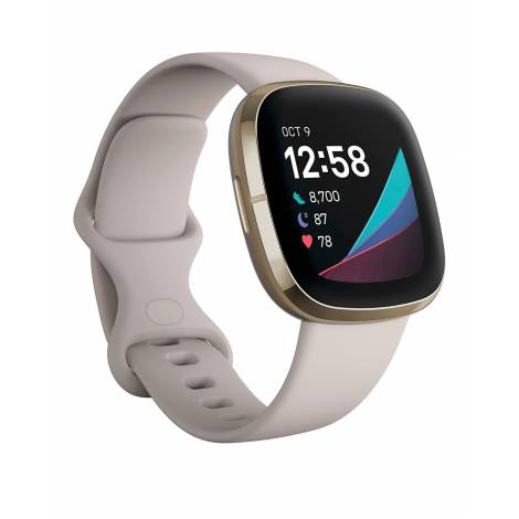 Fitbit Sense Smart Watch Lunar White / Soft Gold (FB512GLWT)
