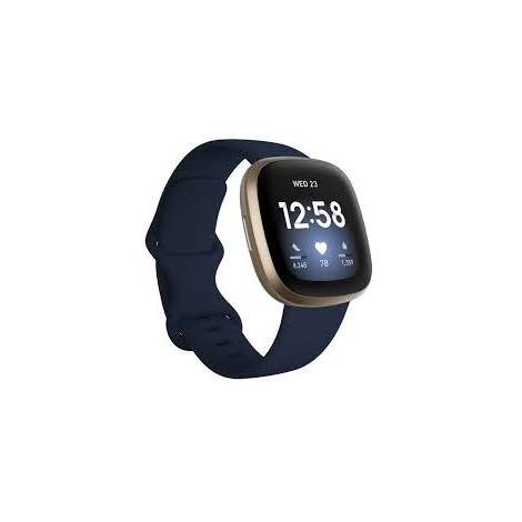 Fitbit Smartwatch Versa 3 - Midnight / Soft Gold (FB511GLNV)