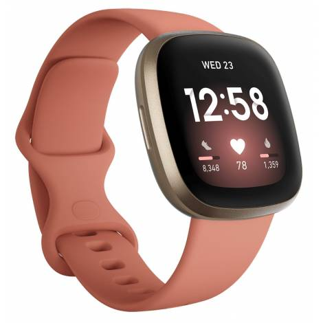 Fitbit Smartwatch Versa 3 - Pink Clay/ Soft Gold (FB511GLPK)