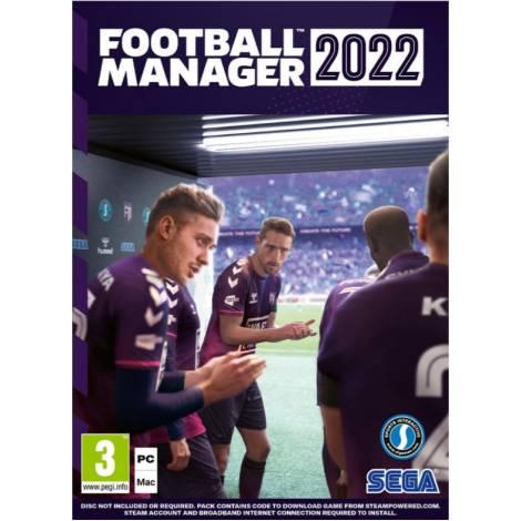 Football Manager 2022 (κουτί με κωδικό για Steam) δώρο Coach Planner (PC)
