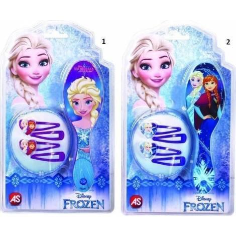 AS Company Frozen Βούρτσα Μαλλιών Με Κλιπς-2 Σχέδια (1027-25524)