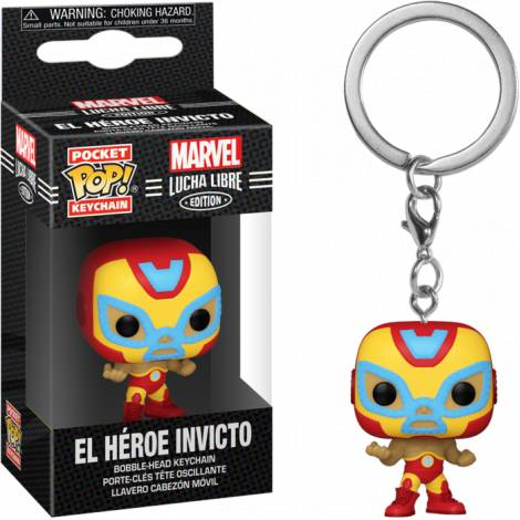 Funko Pocket POP! Marvel Lucha Libre Edition - El Heroe Invicto Bobble-Head Vinyl Figure Keychain