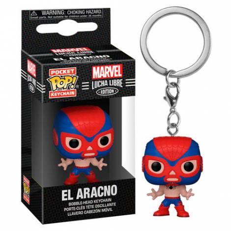 Funko Pocket POP! Marvel Lucha Libre Edition - El Aracno Bobble-Head Vinyl Figure Keychain