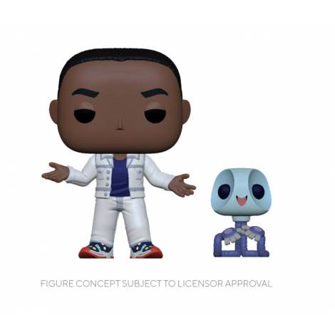 Funko POP! NBA: Space Jam 2 - AI G w/Pete buddy (Metallic) Figure