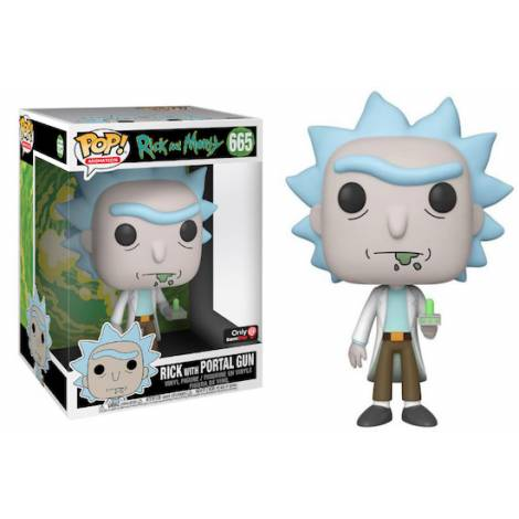 Funko POP! Animation: Rick and Morty - Rick with Portal Gun (25cm) (Special Edition) #665 Vinyl Figure