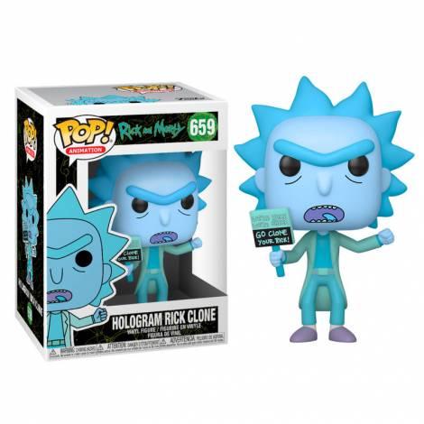 Funko POP! Animation Rick & Morty - Hologram Rick Clone #659 Vinyl Figure - με χτυπημένο κουτάκι
