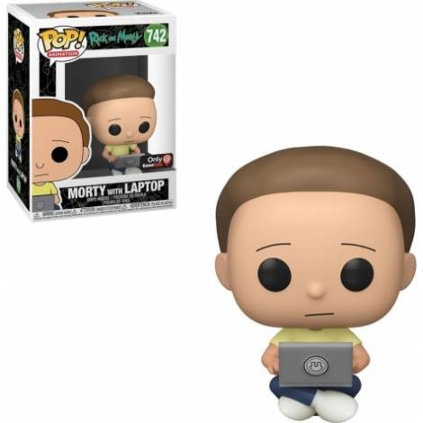 Funko POP! Animation: Rick & Morty - Morty with Laptop (Special Edition) #742 Vinyl Figure