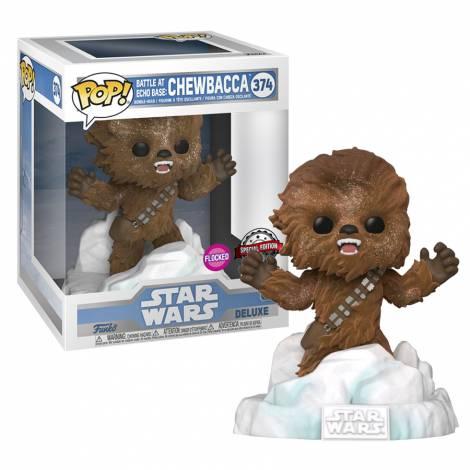 Funko POP! Deluxe: Star Wars - Battle At Echo Base : Chewbacca (Flocked) (Special Edition) #374 Bobble-Head Vinyl Figure - με χτυπημένο κουτάκι