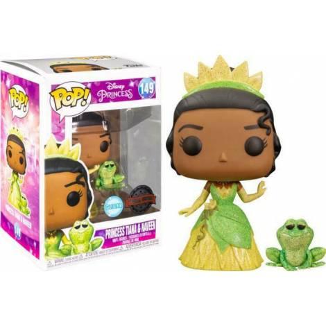 Funko POP! Disney Princess : Princess Tiana & Naveen (With Frog) (Glitter) (Special Edition) #149 Vinyl Figure