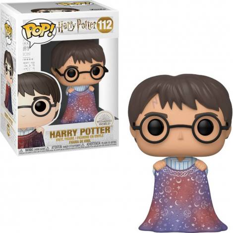 Funko POP! Harry Potter - Harry Potter with Invisibility Cloak #112 Vinyl Figure - με χτυπημένο κουτάκι