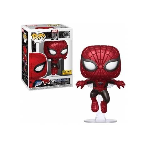 Funko POP! Marvel 80 Years - First Appearance Spider-Man (Metallic) (Special Edition) #593 Bobble-Head Vinyl Figure